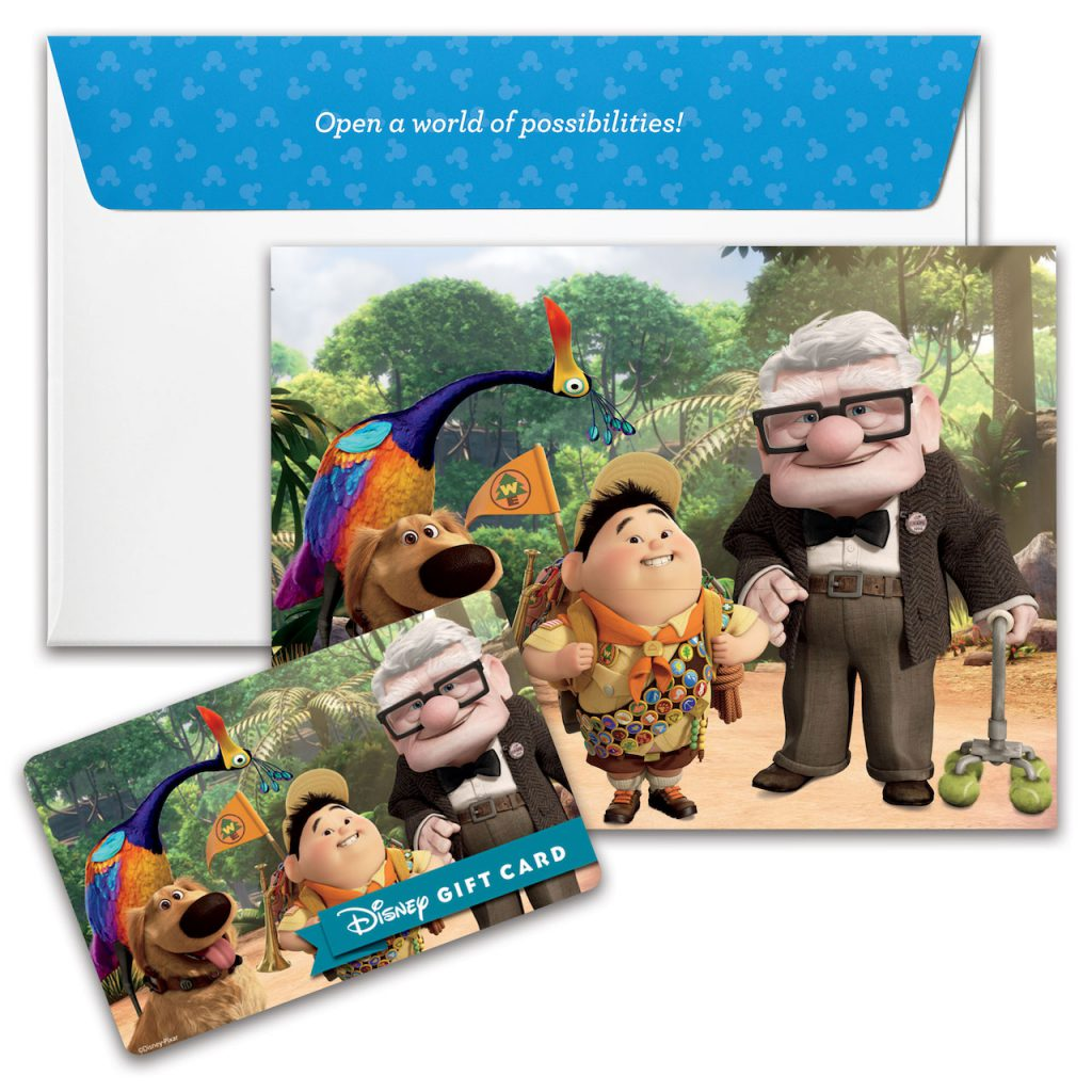 """New Disney Gift Card design featuring """"UP"""""""