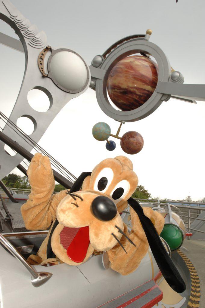 Pluto in Tomorrowland at Magic Kingdom Park
