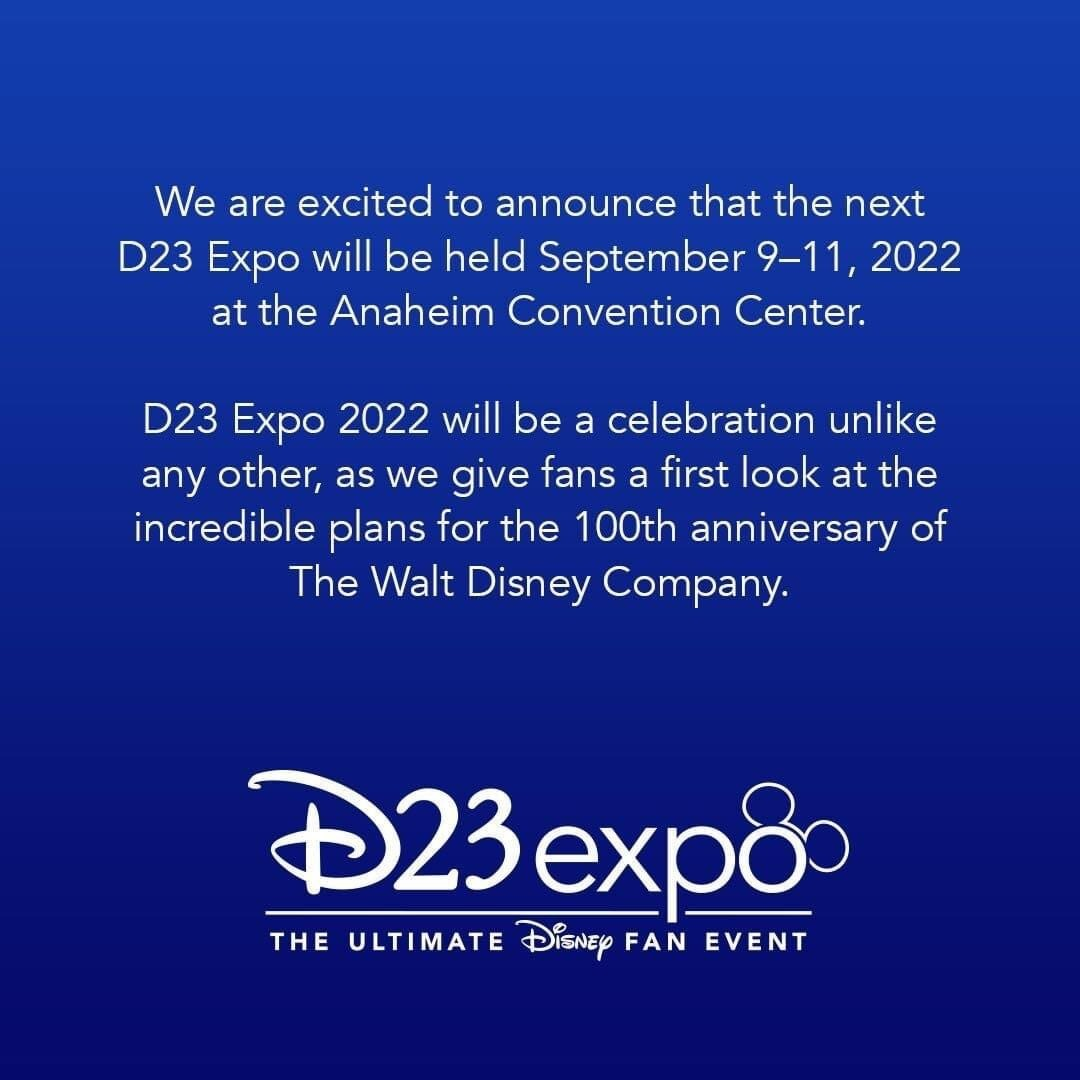 D23 Releases Date for the Next Expo! 1