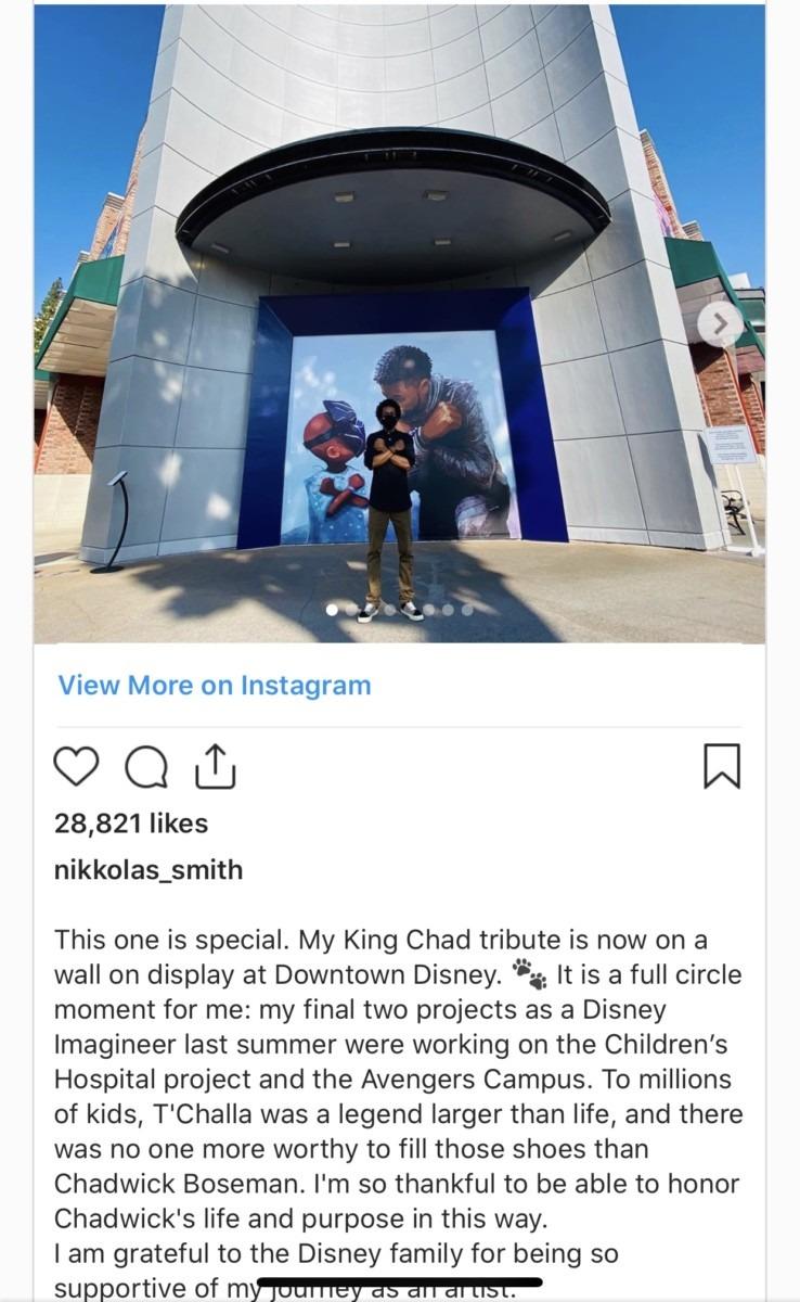 Beautiful Chadwick Boseman Mural Unveiled in Downtown Disney 1