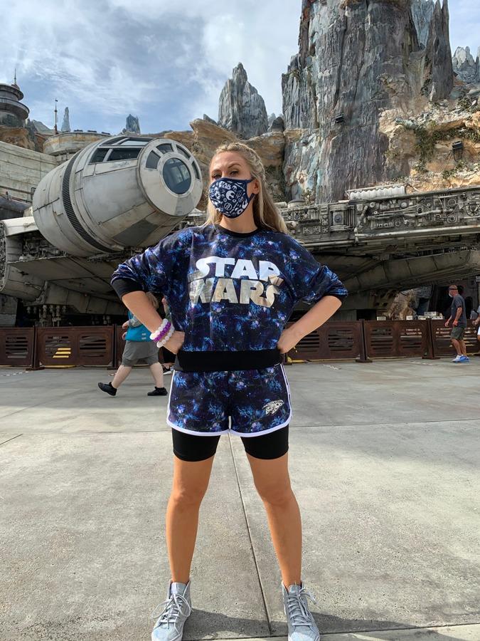 Ashley Eckstein in Star Wars: Galaxy's Edge at Disney's Hollywood Studios