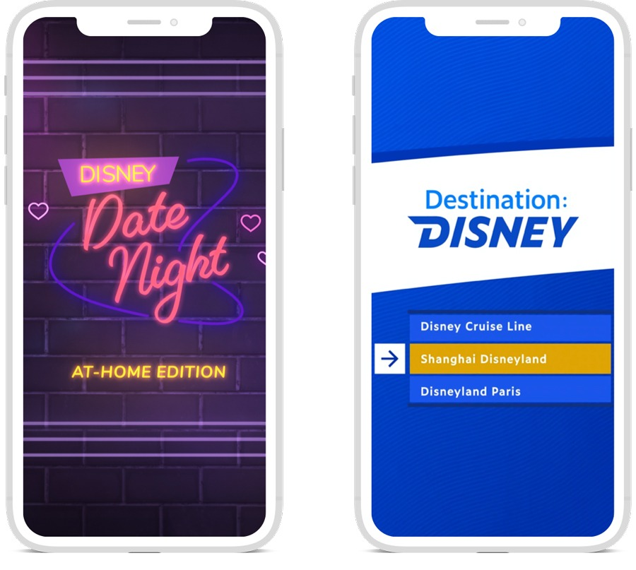 Disney Date Night At-Home Edition and Destination Disney