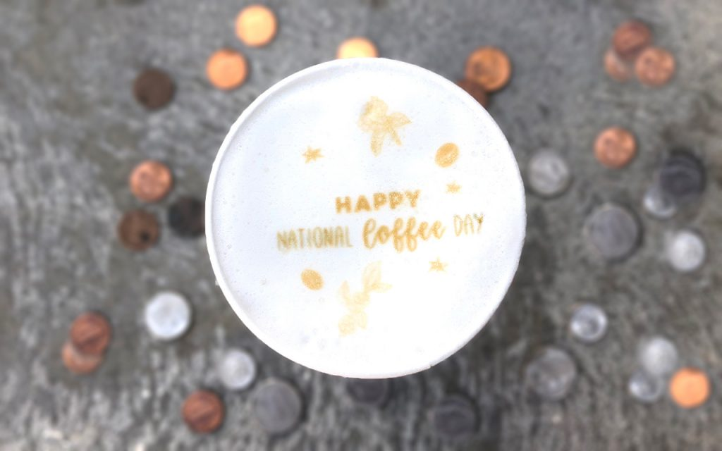 Happy National Coffee Day coffee art