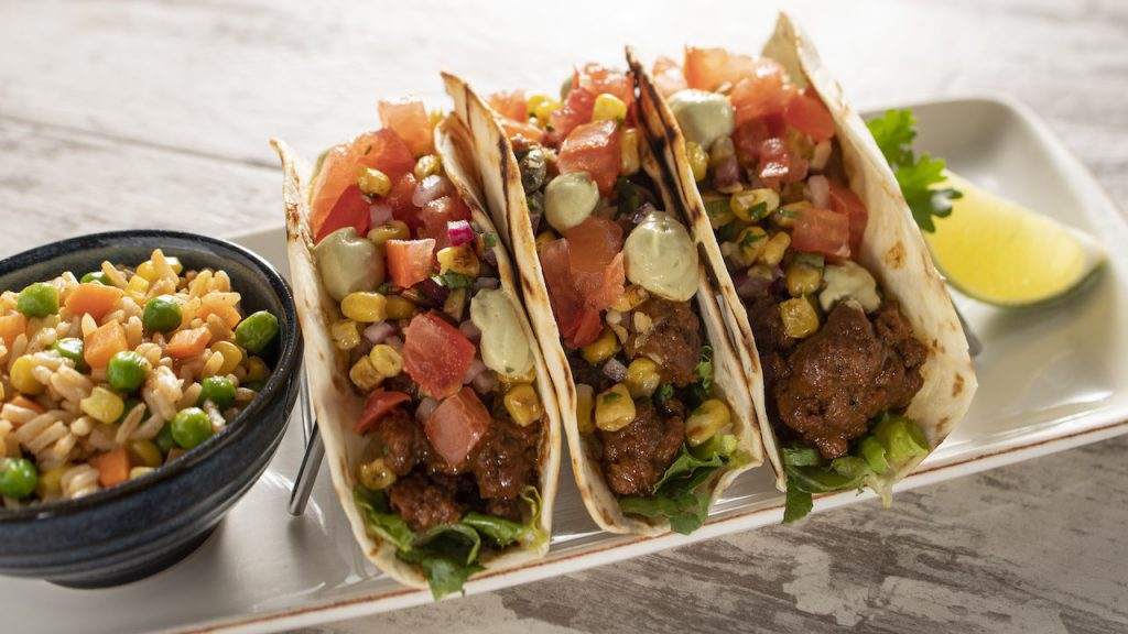 Plant-based Harvest Mole Tacos from Wind & Waves Grill at Disney's Vero Beach Resort