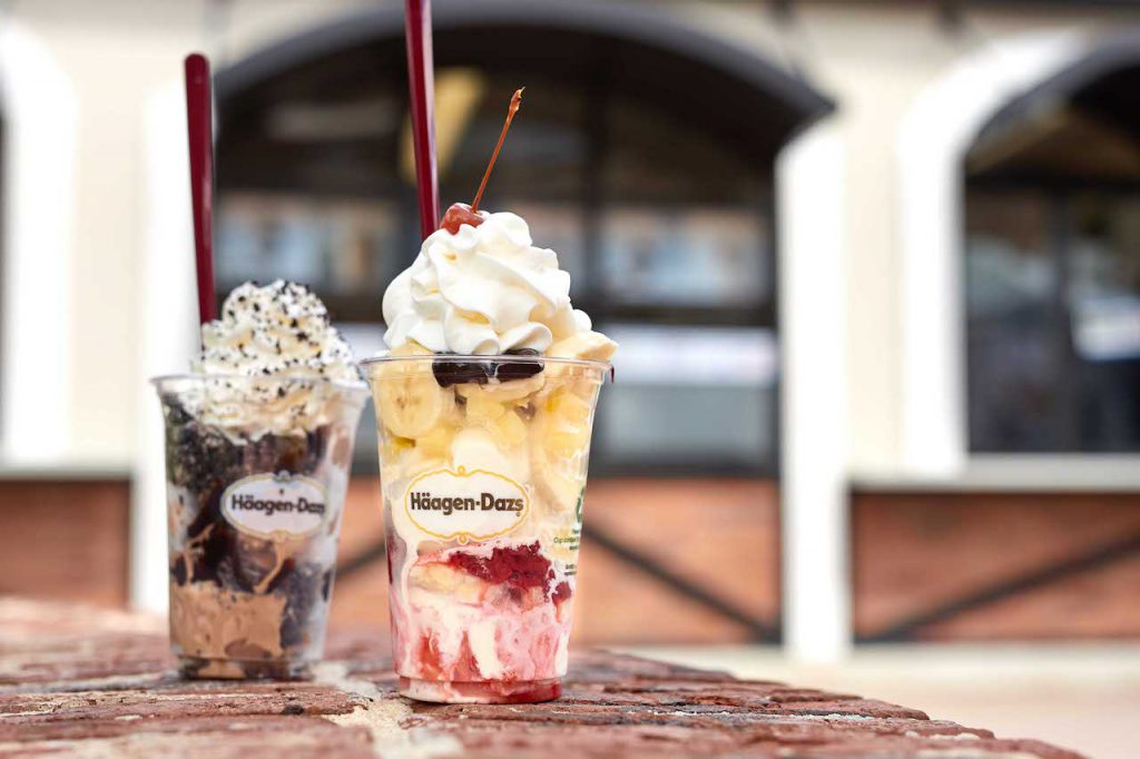 Dazzlers Sundaes from Haagen Dazs for Weekday Delights at Disney Springs for the Fall 2020 Season