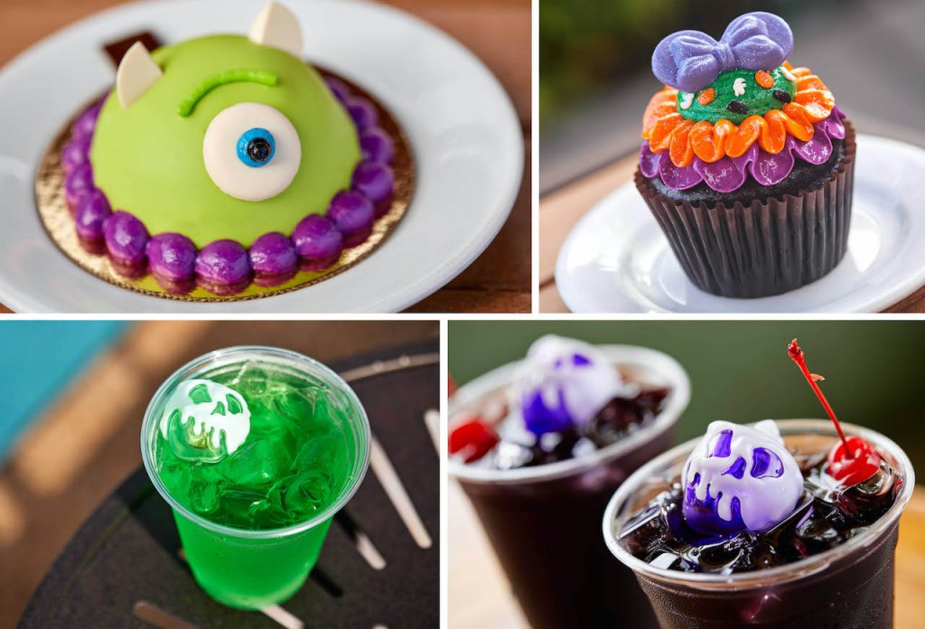 Collage of Walt Disney World Resort hotels fall treats