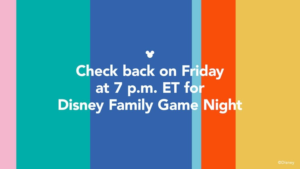 Disney Family Game Night video placeholder graphic