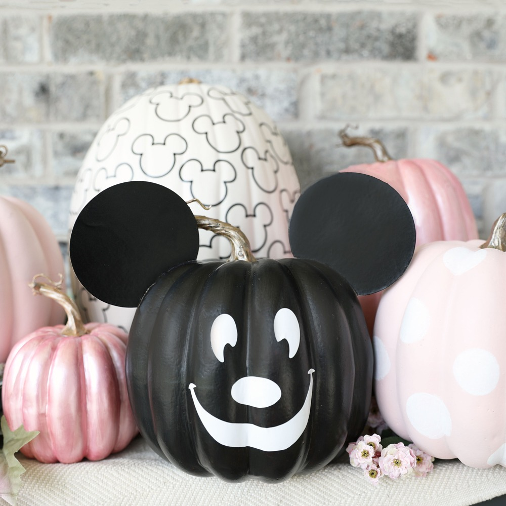 No-Carve Mickey Pumpkin