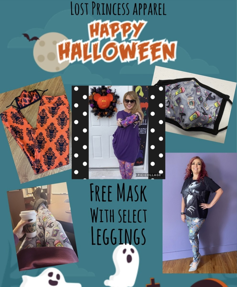 Boo to You! Free Matching Face Mask with Select Leggings! 1