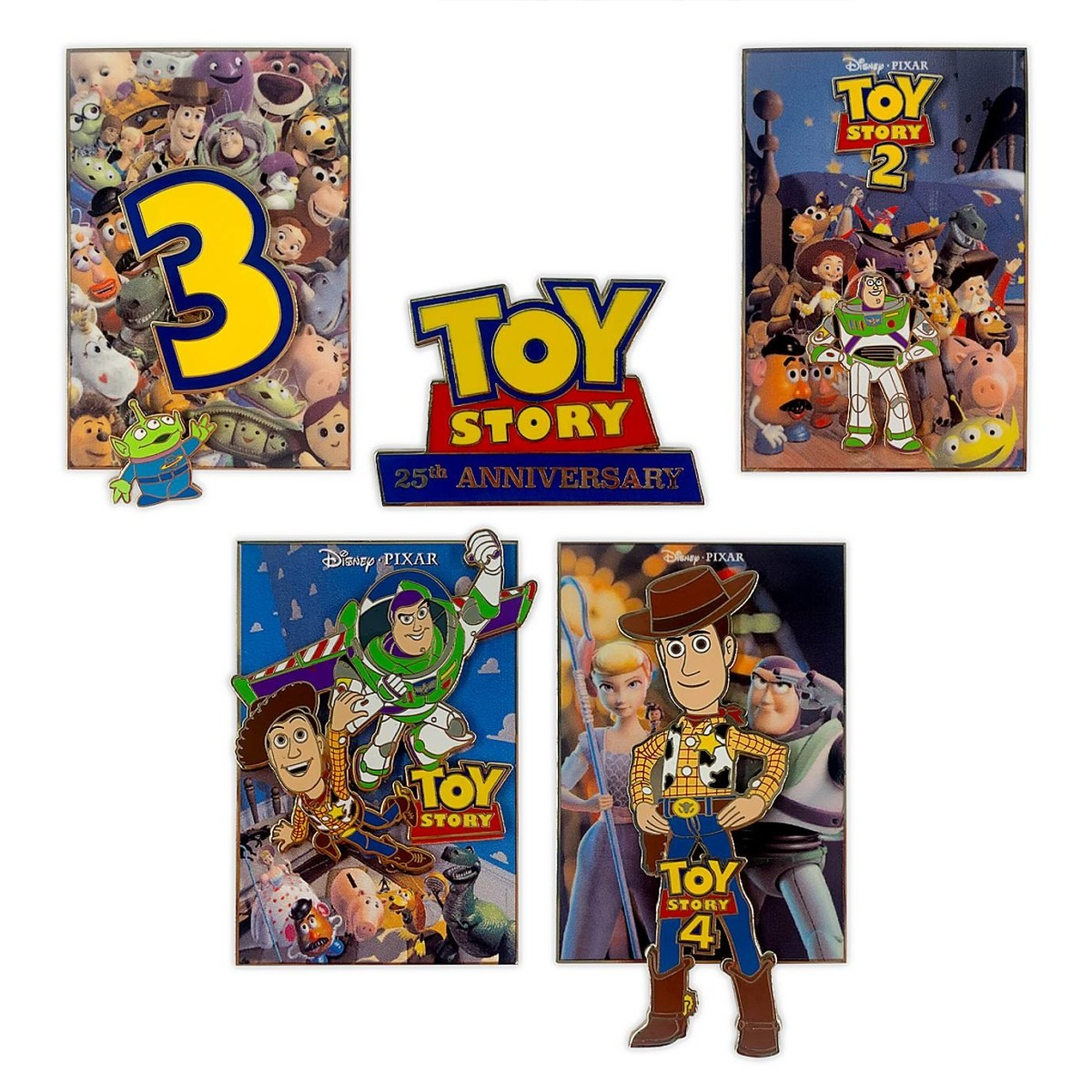 oy Story 25th Anniversary Pin Set – Limited Edition $149.99
