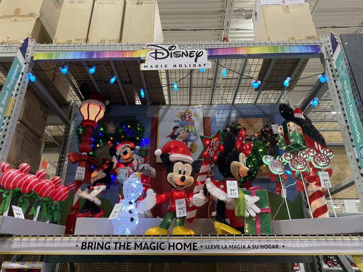 New Disney Christmas Decor Now at Lowe's! 1