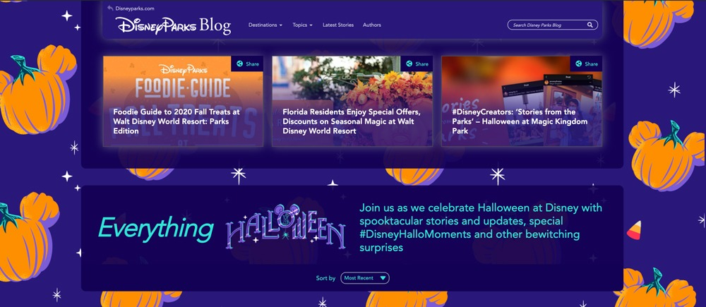 Disney Parks Blog Halloween Page