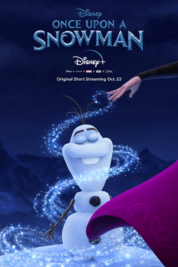"""""""Once Upon a Snowman"""" poster"""