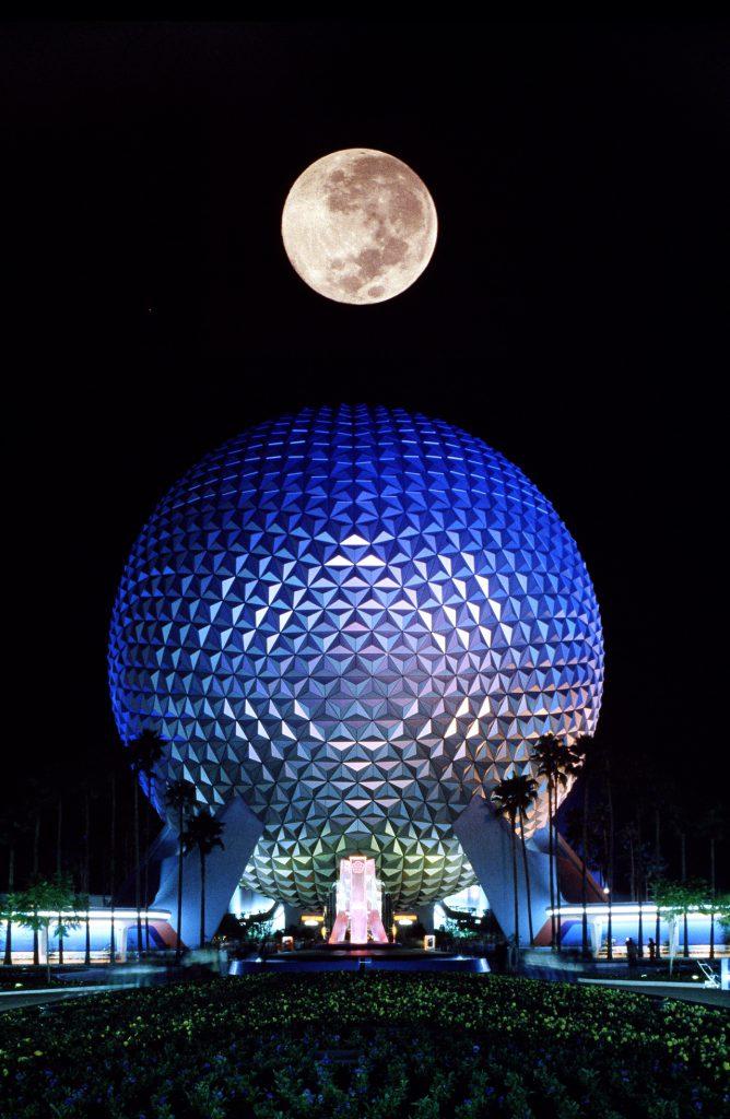 Full moon over Spaceship Earth