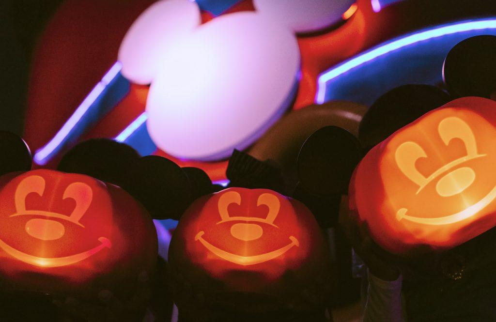 Glowing pumpkins on a Disney Cruise Line Ship