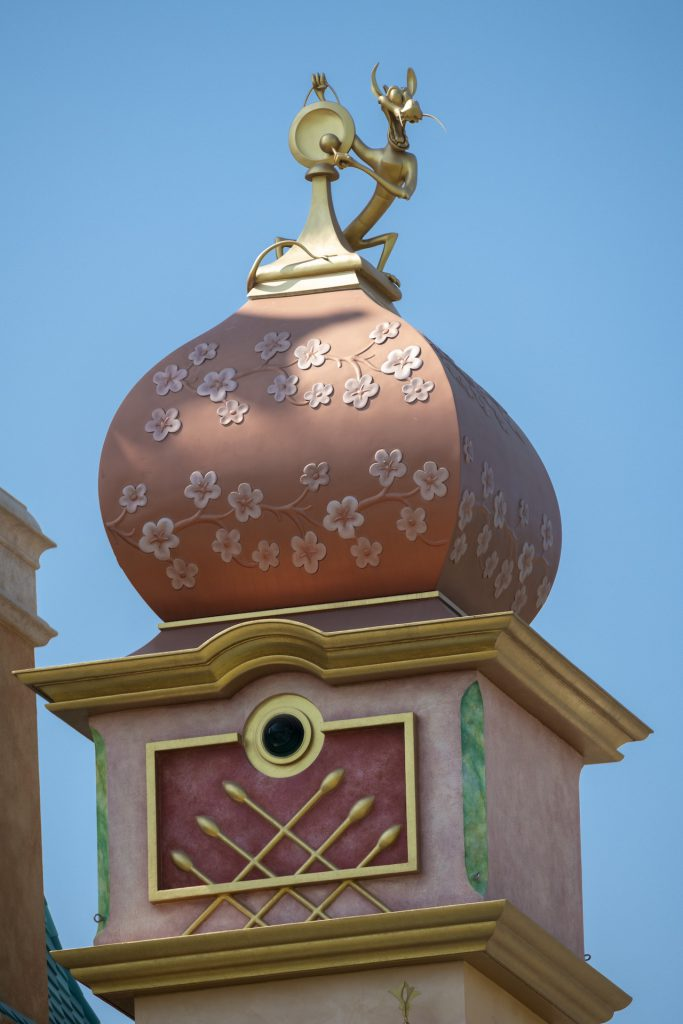 Detail of the new Castle of Magical Dreams at Hong Kong Disneyland