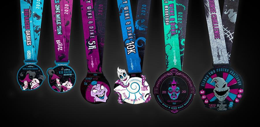 2020 Disney Wine & Dine Half Marathon Finisher medals