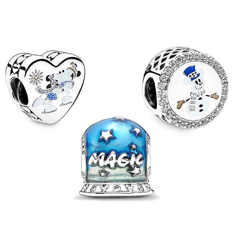 Mickey Mouse and Minnie Mouse Pandora Charm Set