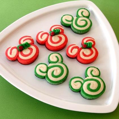 Mickey and Minnie Christmas Swirl Cookies 1